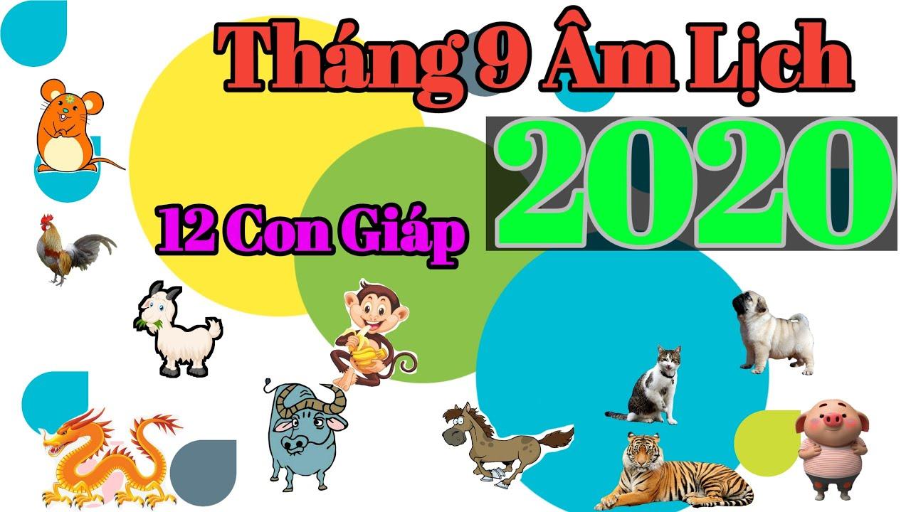 TỬ VI THÁNG 9 ÂL NĂM 2020 CỦA 12 CON GIÁP