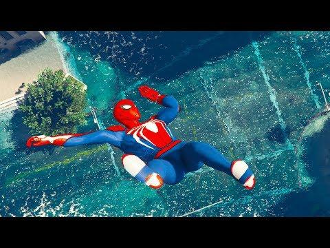 GTA 5 Water Ragdolls Spiderman Jump Fails #7 || Funny Moments ( Euphoria Physics )