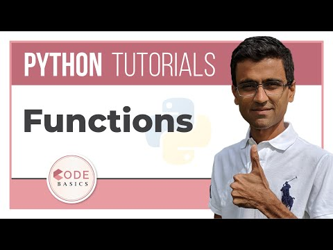 Python Tutorial - 10. Functions declaration and use and define