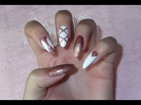 White And Gold Nails Sylwestrowe Paznokcie Semilac самые