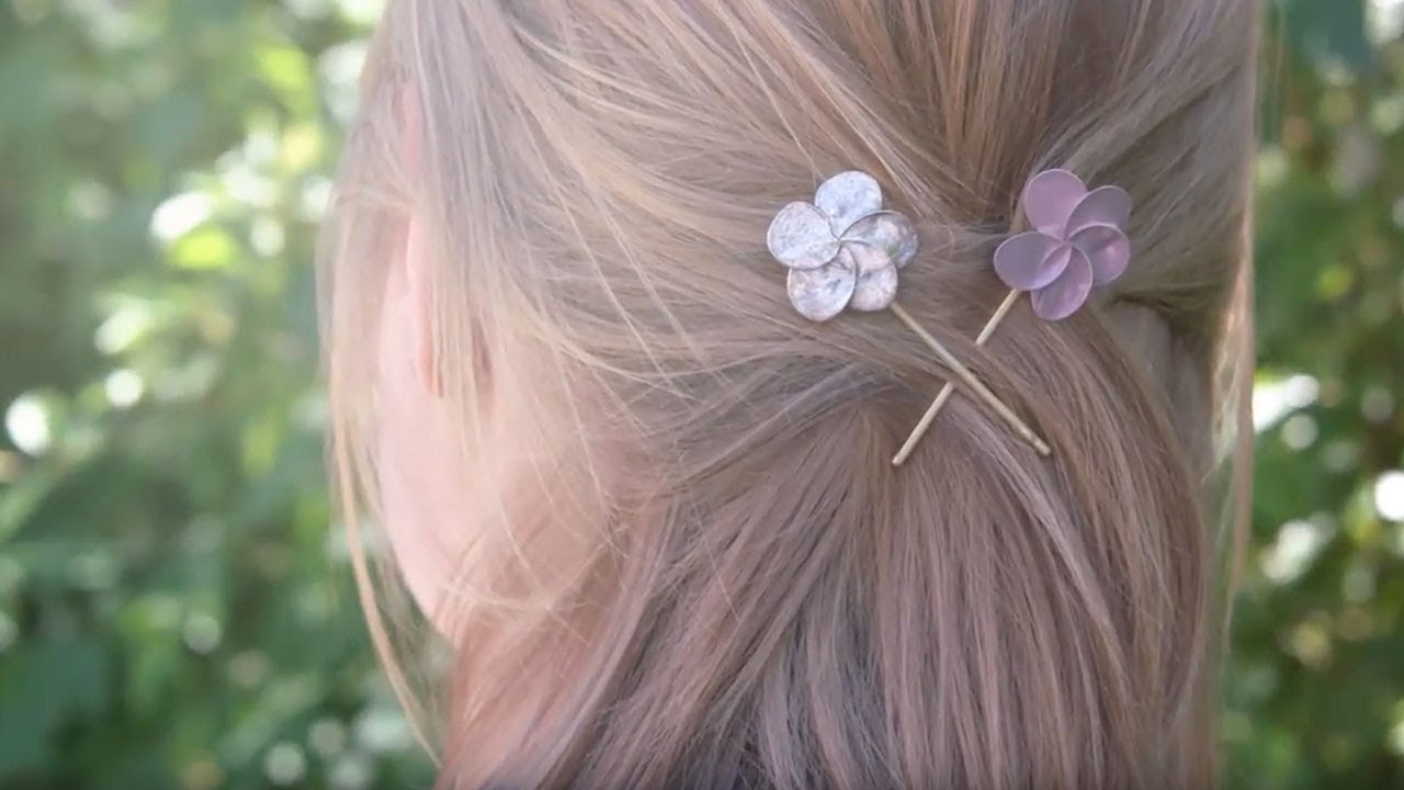 Bobby Pins mit Nagellack-Blumen – active beauty Magazin - YouTube