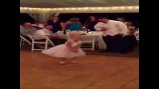 Little girl dancing Gangnam Style