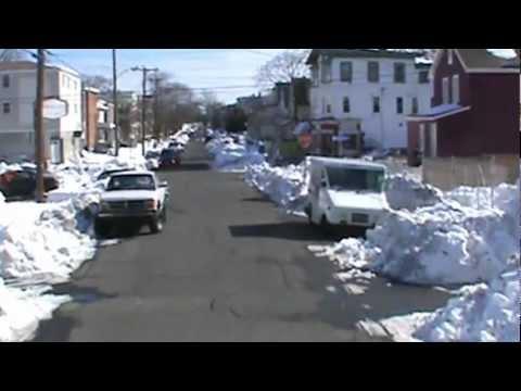 Snow storm 3 feet Bridgeport Connecticut {Vid.7 of 7} Blizzard of February 2013