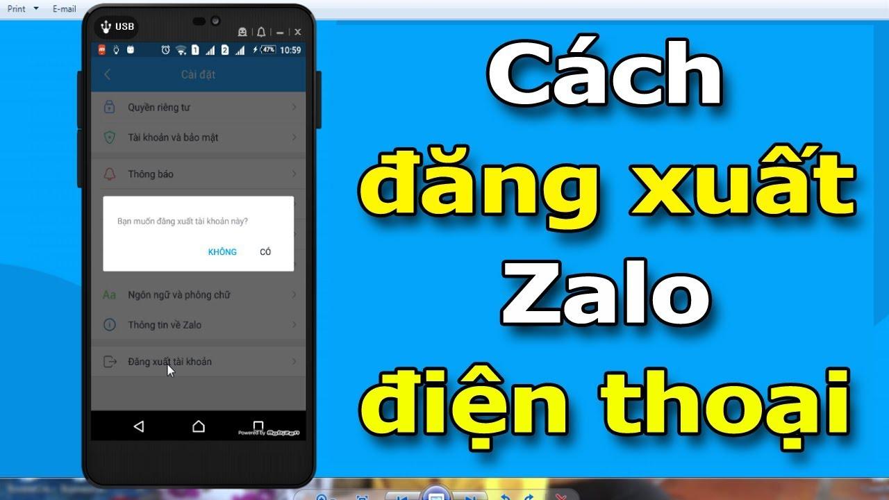 Hướng dẫn đăng xuất tài khoản Zalo trên điện thoại nhanh và dễ làm nhất