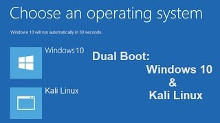Dual boot Kali Linux and Windows 10 by using EasyBCD