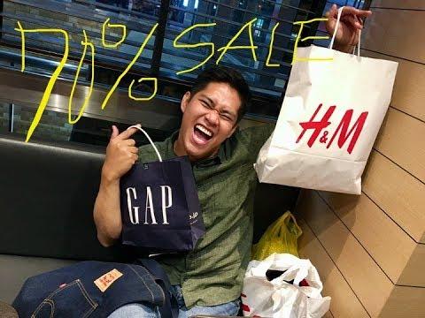 JAPAN RUSH  70%SALE H&M And GAP||VLOG04||