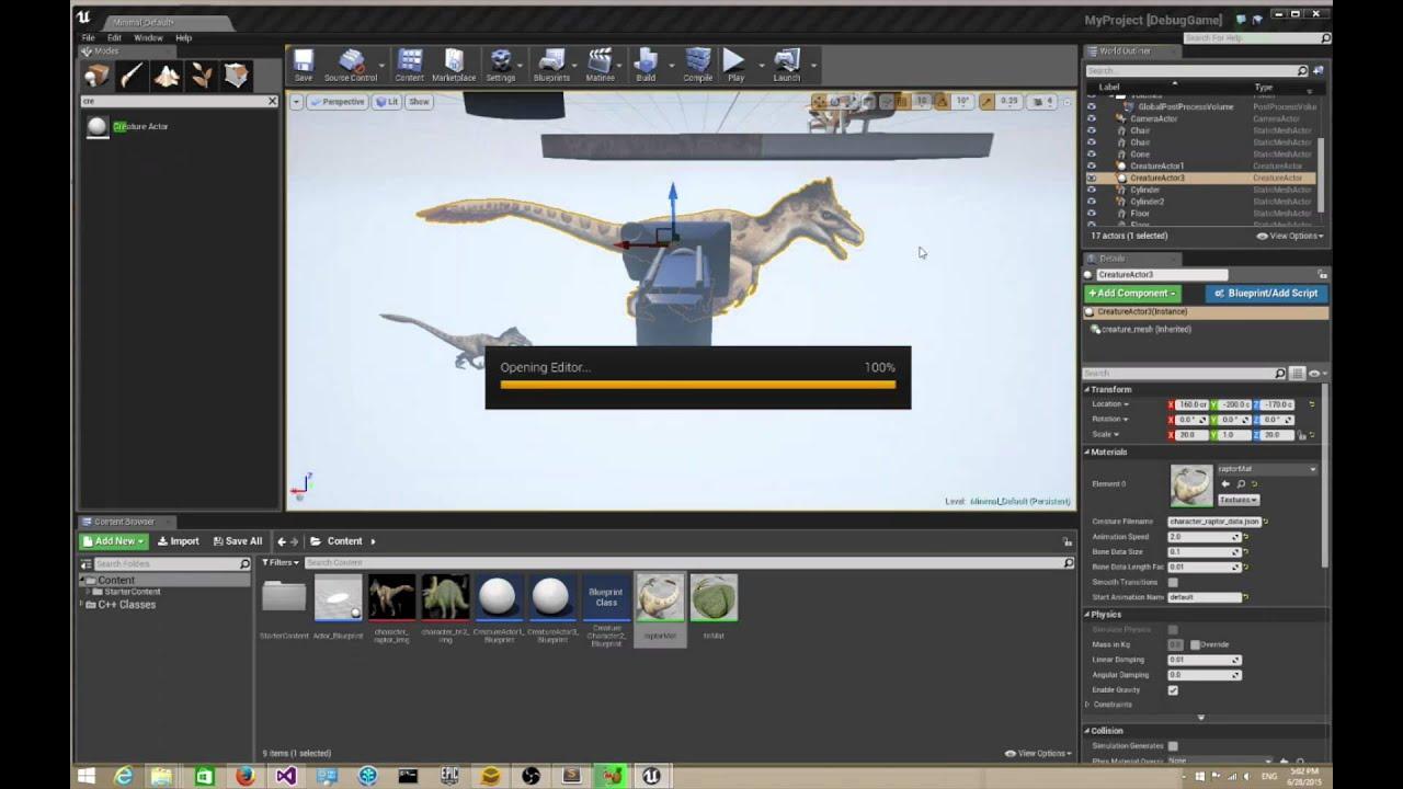 UE4 Creature Runtime Plugin Usage