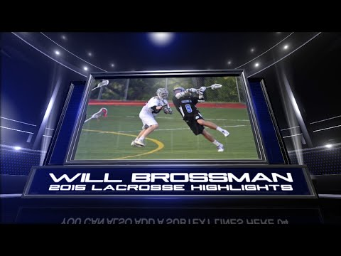 Will Brossman 2015 Lacrosse Highlights (Princeton Day School '17)
