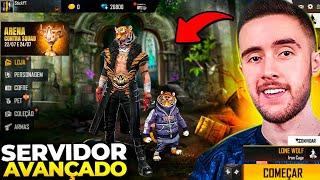 VAZOU!! TODAS AS NOVIDADES SECRETAS DO SERVIDOR AVANÇADO DO FREE FIRE!!