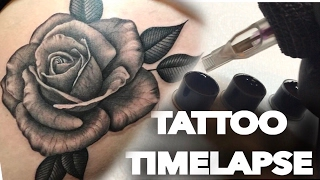TATTOO TIME LAPSE / BLACK N GREY / ROSE / CHRISSY LEE