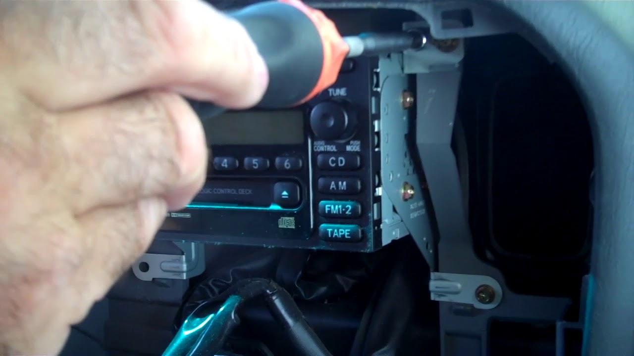 Toyota Land Cruiser and Lexus LX470 Radio Removal