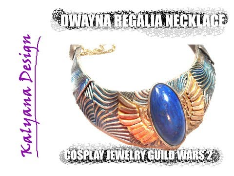 Dwayna's regalia necklace (Guild Wars 2 inspired) cosplay jewelry tutorial 221