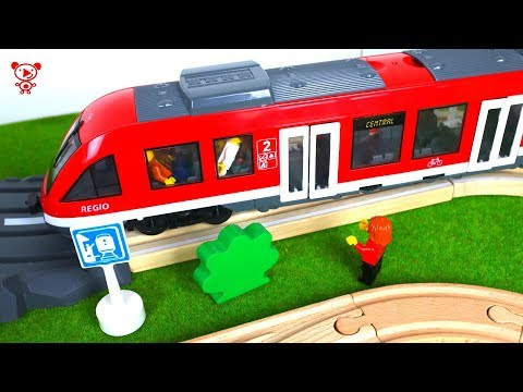 Tram for kids and wooden brio trains for kids - railway for kids thumbnail