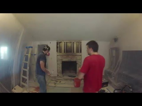 Diy Fireplace Re Timelapse Day Of