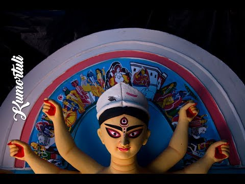 Durga Idol Making | Kumortuli | The Final Touch | Durga Puja 2017