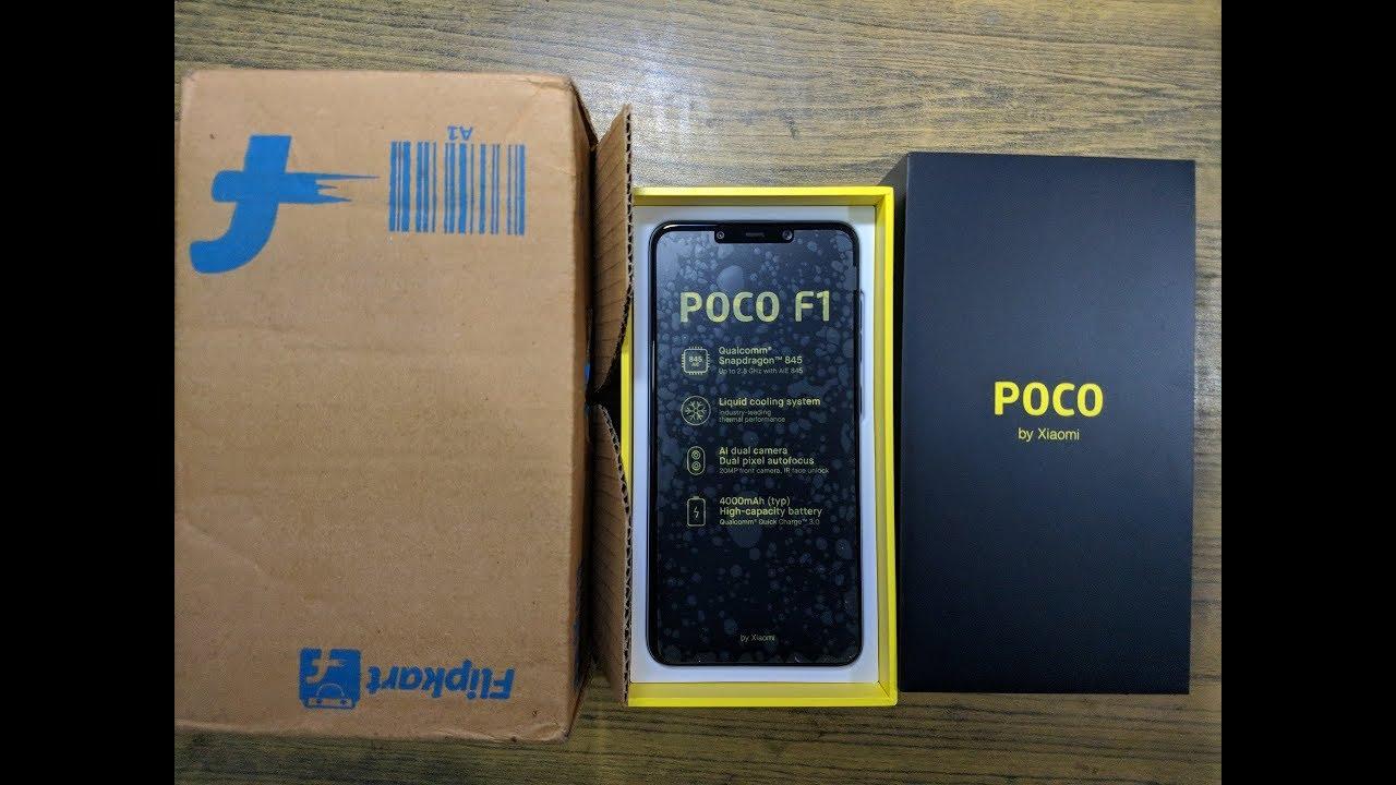 Xiaomi Pocofone F1 Flipkart Unboxing