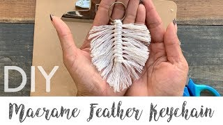 Macrame Feather Keychain DIY