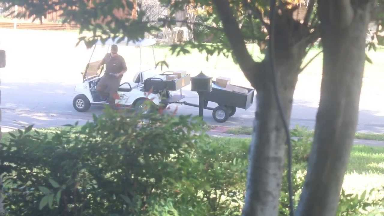 UPS Holiday delivery by golf cart in my neighborhood - YouTube on golf cart classifieds, golf cart library, golf cart events, golf cart safety tips, golf cart security, golf cart sports, golf cart transportation, golf cart history, golf cart parking, golf cart traffic, golf cart schools, golf cart police,