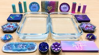 purple-vs-blue-mixing-makeup-eyeshadow-into-clear-slime-special-series-64-satisfying-slime-vide