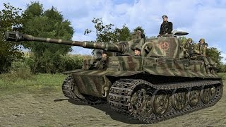 Realistic Simulation of a Tank Battle on your PC!! 5 Tigers H1 vs. 15 Shermans M4