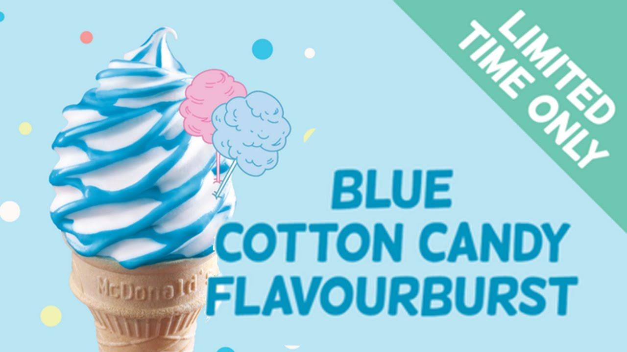 Blue cotton candy ice cream