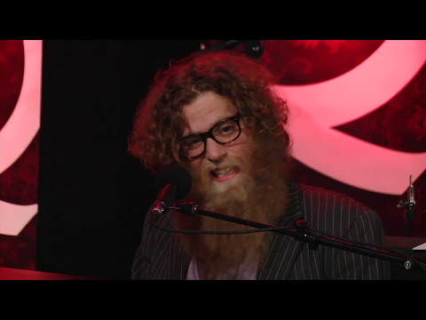 Ben Caplan warms up his pipes demonstrating vocal technique