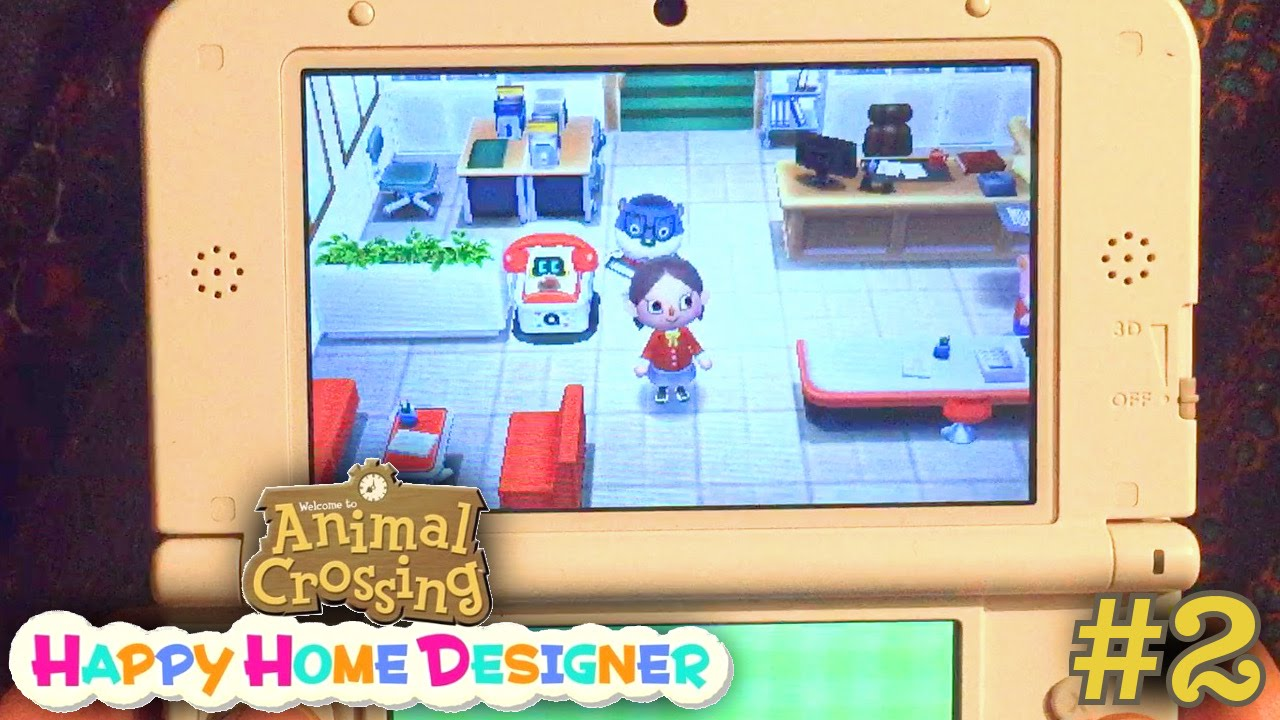 sarah plays animal crossing happy home designer part 2 - school