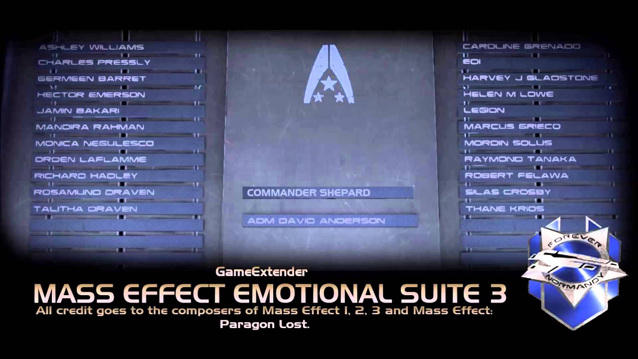 mass effect emotional suite version 3 youtube. Black Bedroom Furniture Sets. Home Design Ideas