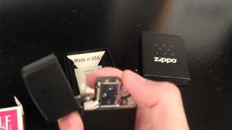 Zippo Black Matte Lighter Review (HD)