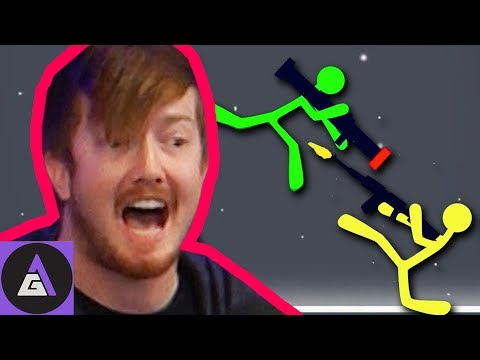 HYPE INTENSIFIES | Four Play Stick Fight with Chad and Sam from ScrewAttack