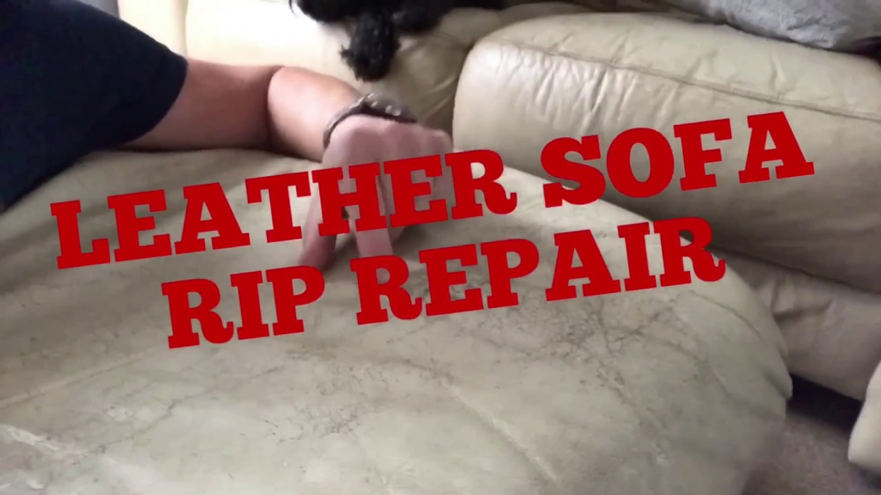 leather sofa chair rip tear or hole easy repair trick hack youtube rh youtube com Repair Leather Seat Color Leather Seat Repair Kit