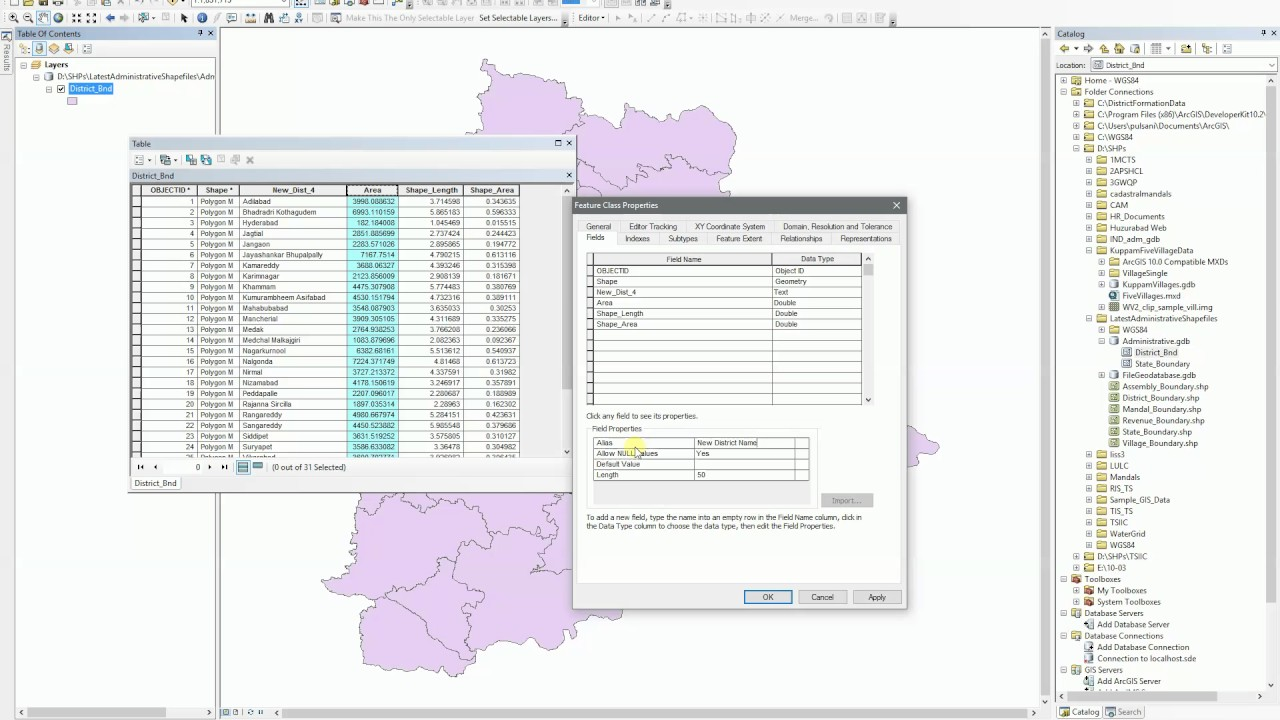 ArcGIS 102  Save Alias names for column names in Attribute table  YouTube