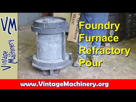 Building and Oil Fired Foundry Furnace - Part 7:  Pouring Refractory and Removing the Forms