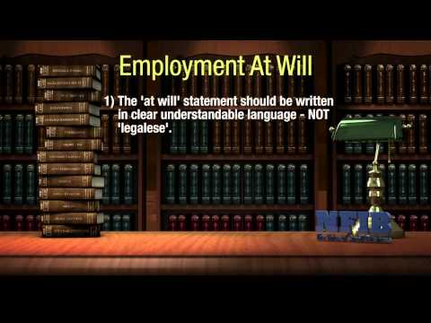 Understanding Employment at Will | NFIB Legal Ease