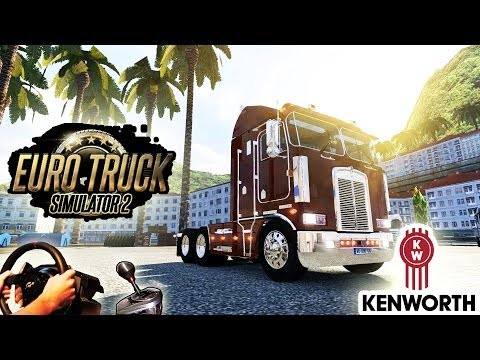 Kenworth K100 - American Trucking (Euro Truck Simulator 2, New TSM Map mod)! HD 1080p 2014.