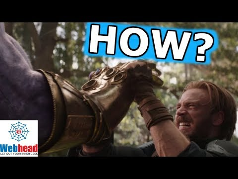 The REAL REASON Captain America Can Hold Back Thanos And The Infinity Gauntlet   Webhead