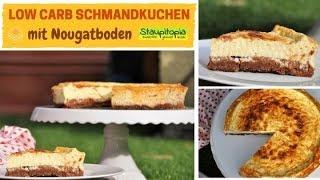Kein Kuchen ist auch keine Lösung: einfacher Low Carb Schmandkuchen mit Nougatboden und Buttermilch