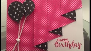 Stampin' Up! Drapery Fold Card technique