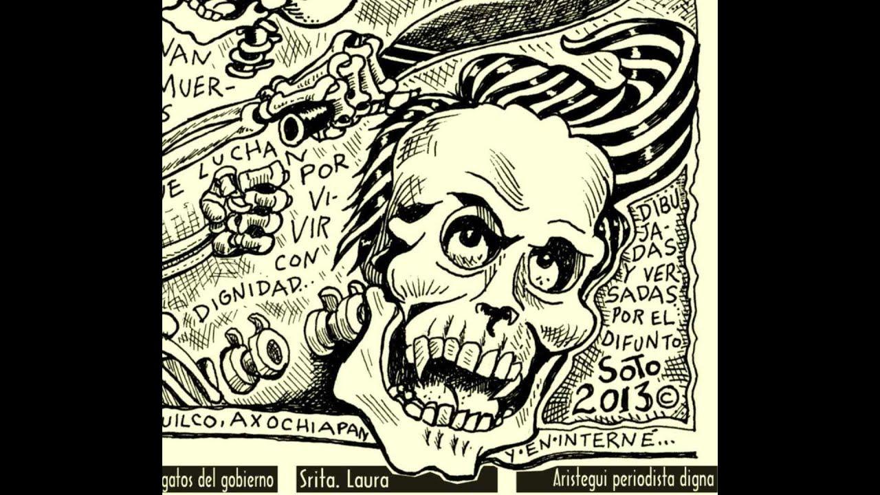 calaveras versos dibujos caricaturas del metiche video