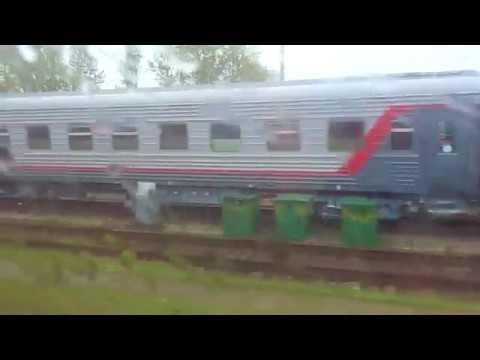Прибытие скорого поезда №049Ч Кисловодск - Санкт-Петербург на станцию Санкт-Петербург - Главный.