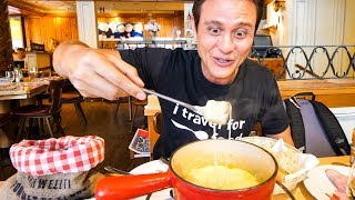 Swiss Food Tour - CHEESE FONDUE and Jumbo Cordon Bleu in Zurich, Switzerland! thumbnail