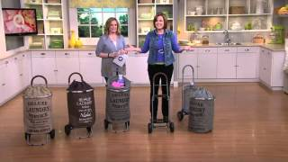 Trolley Dolly Collapsible Laundry Cart w/Removable Liner on QVC