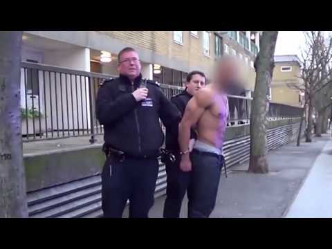 Guy Pisses Himself When Getting Arrested (skip to 5s)