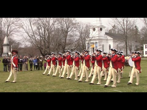 The Old Guard: Fife and Drum Corps perform in Lexington, Patriot's Day 2018