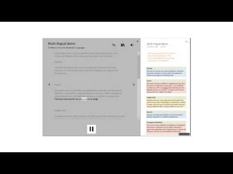 Learning Tools for OneNote multi-lingual demo