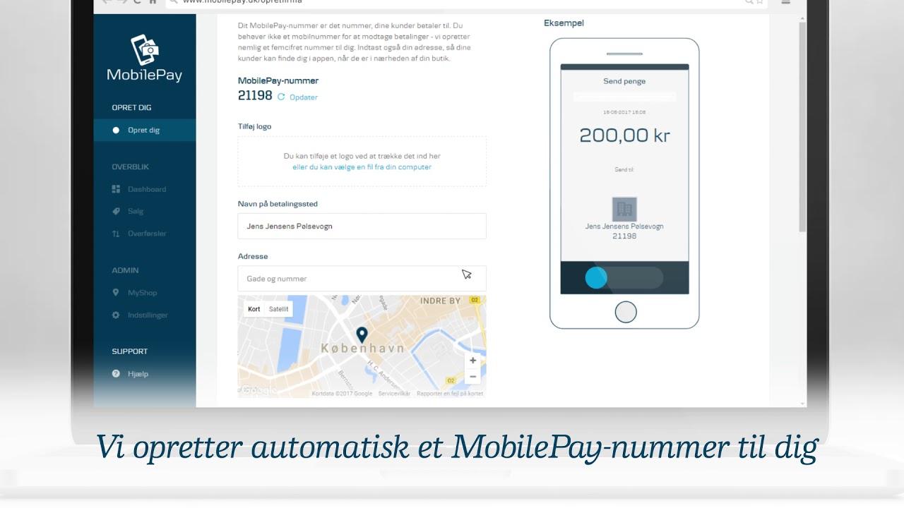 mobilepay udenlandsk nummer