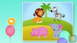 Умные пазлы - Животные. Пазлы для малышей.Smart puzzles. Animals.