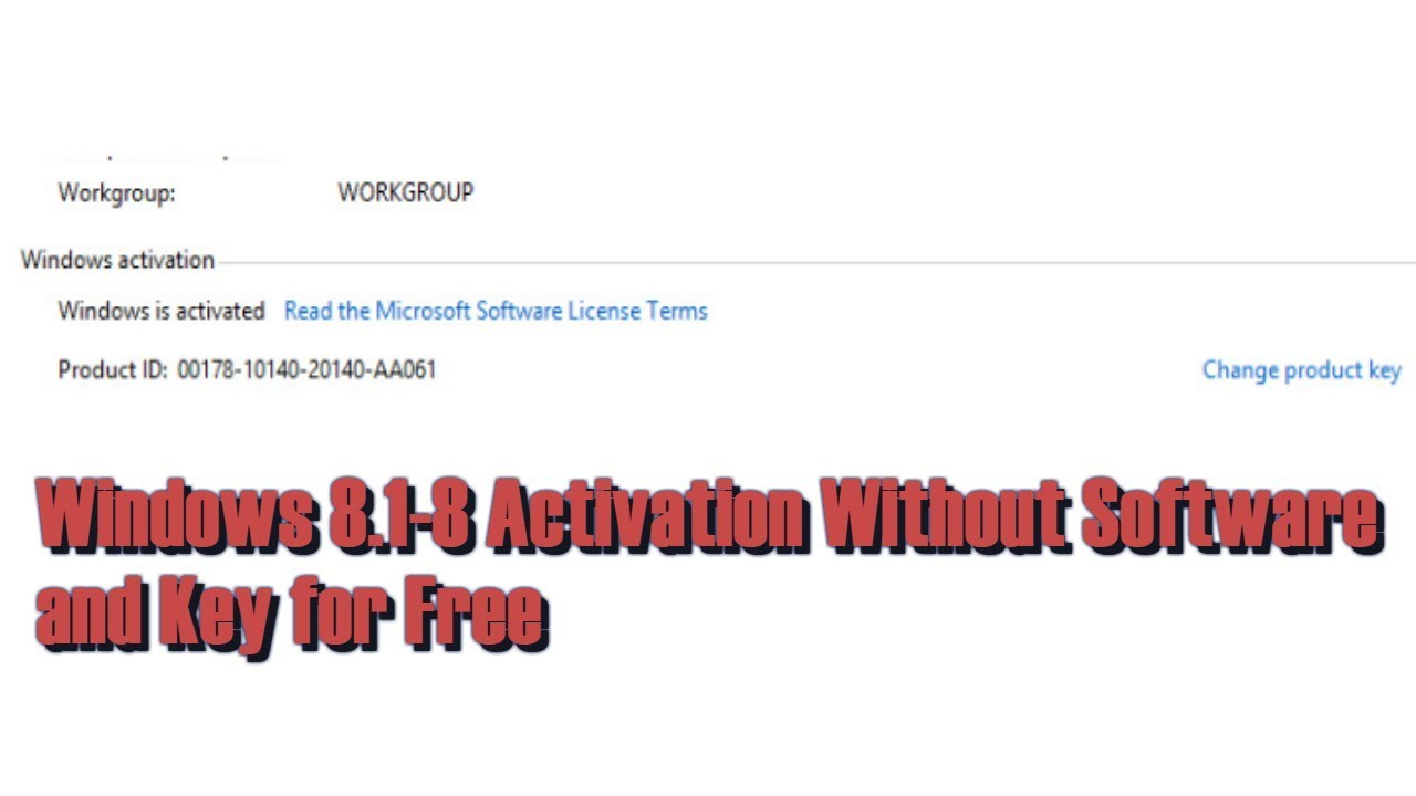 Windows 8.1 Pro build 9600 Activation Without Software and Key for Free