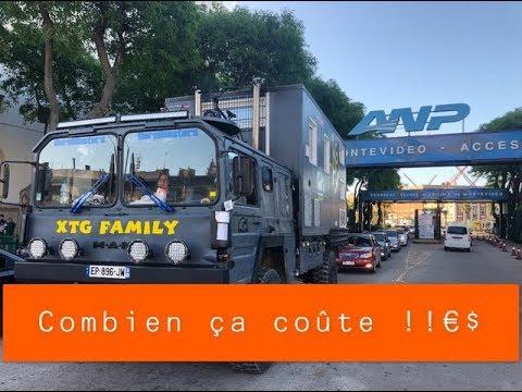 #43 comment récupérer son camion campingcar à Montevideo en Uruguay et à quel prix !