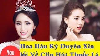 Xôn xao video hoa hậu Kỳ Duyên hút thuốc nơi công cộng. Đoạn video ...